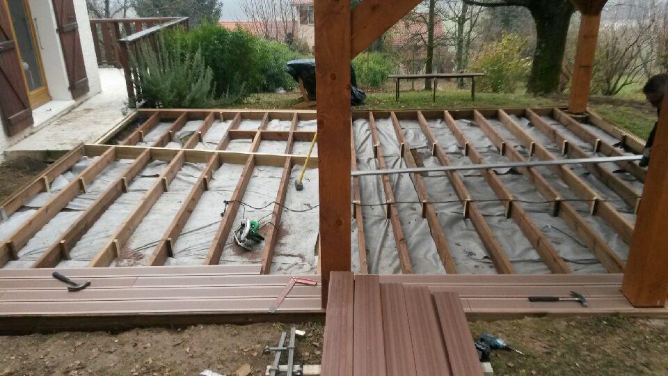 installation plancher terrasse bois à st paul de varces